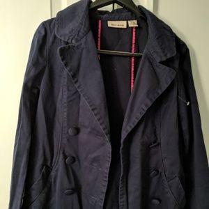 Dkny Jackets & Coats - DKNY JEANS navy blue 3/4 length jacket